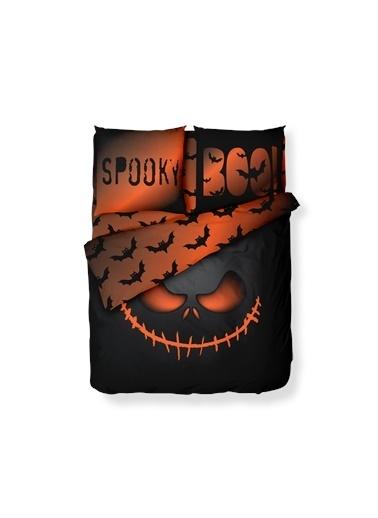 Helen George Spooky Çift Kişilik Nevresim Takımı Siyah